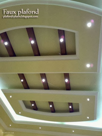 Plafond d coration maison 2014 for Decoration salon avec ba13