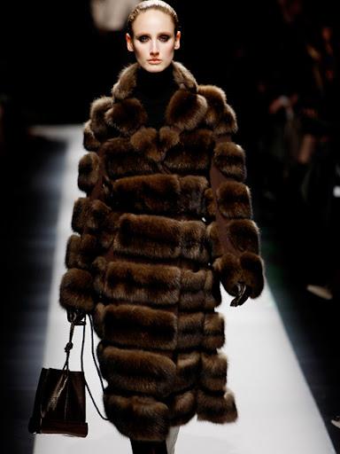 Луксозно кожено палто от самур на Rucci