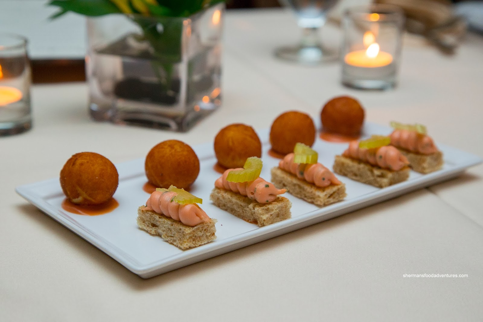Sherman 39 s food adventures bacchus restaurant and lounge for Amuse bouche cuisine