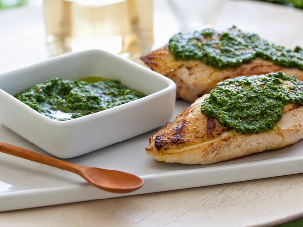 Grilled Pine Nut & Pesto Chicken
