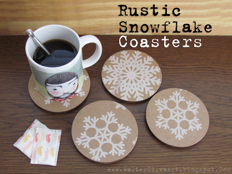 Silva ware by walter silva diy rustic snowflake coasters for Diy rustic coasters