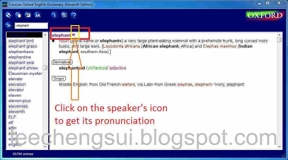 how to use oxford dictionary