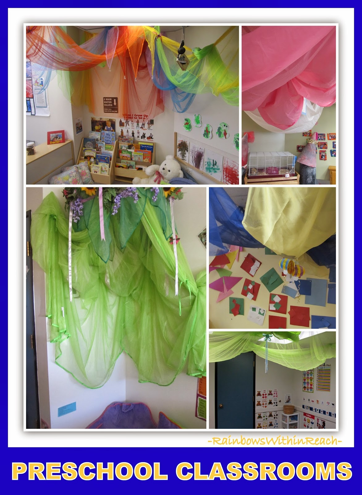 Preschool Classroom Reading Corners via RainbowsWithinReach