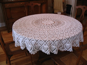 3rd round tablecloth made.  From Elizabeth Hiddleson book 40