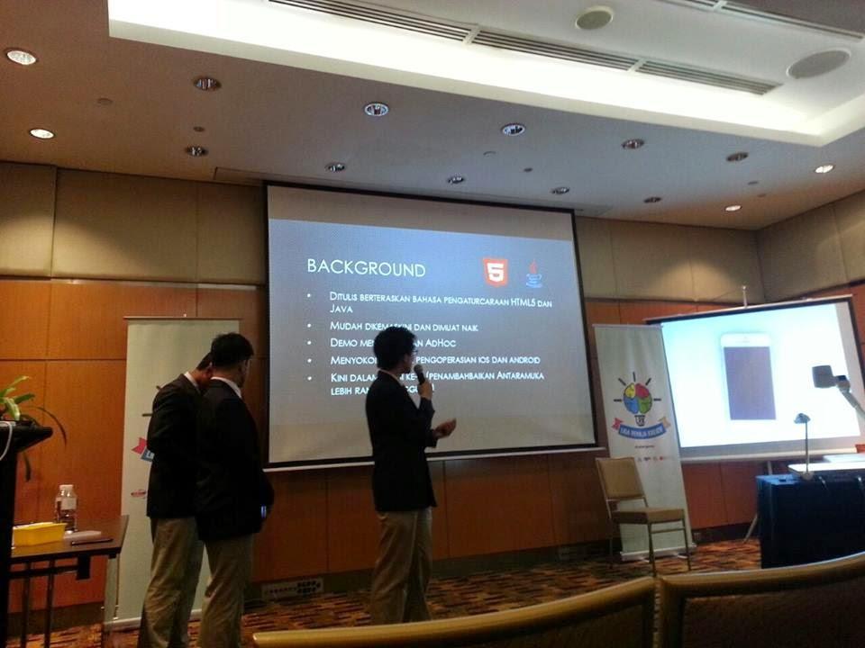 sesi pitching LRK2014 bagi kategori aplikasi mudah alih