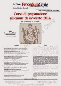 CORSO DI PREPARAZIONE ALL'ESAME DI AVVOCATO 2014