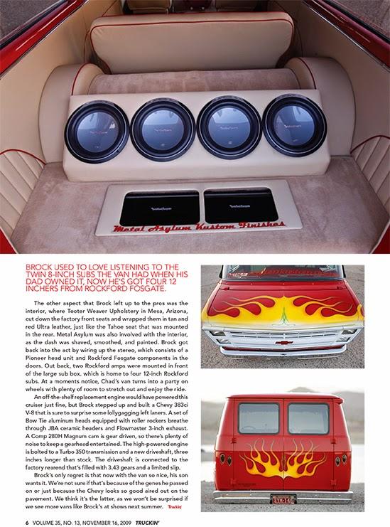 Brock Chobar 1987 Custom Chevy Van Truckin Magazine