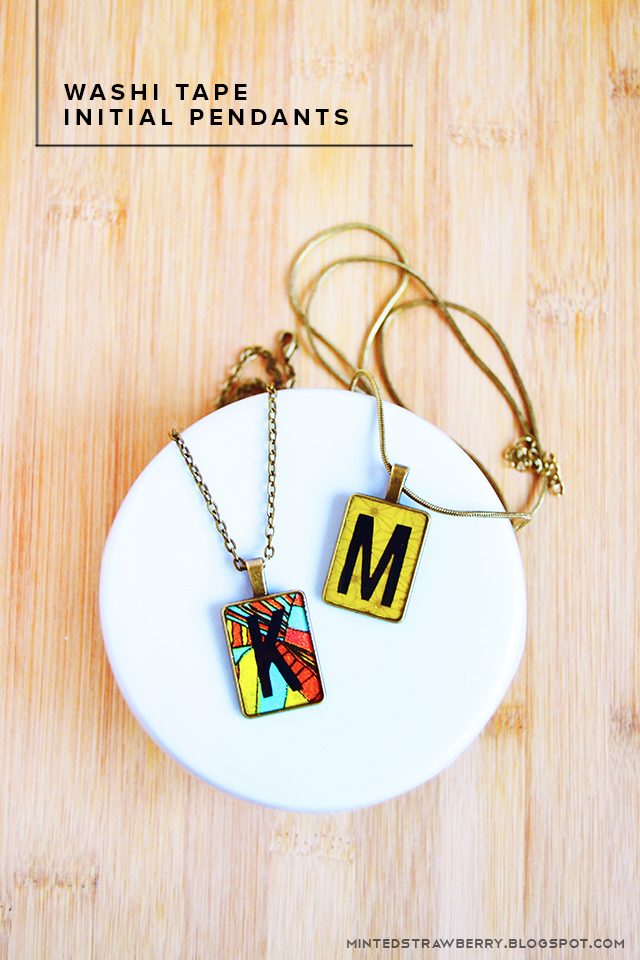 DIY: Washi Tape Initial Necklace