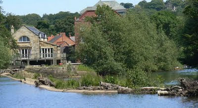 Te weir on the River Esk at Ruswarp, near Whitby, Yorkshire, where the turbine will go