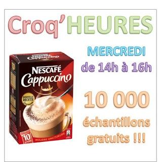 10 000 échantillons gratuits NESCAFÉ® Cappuccino