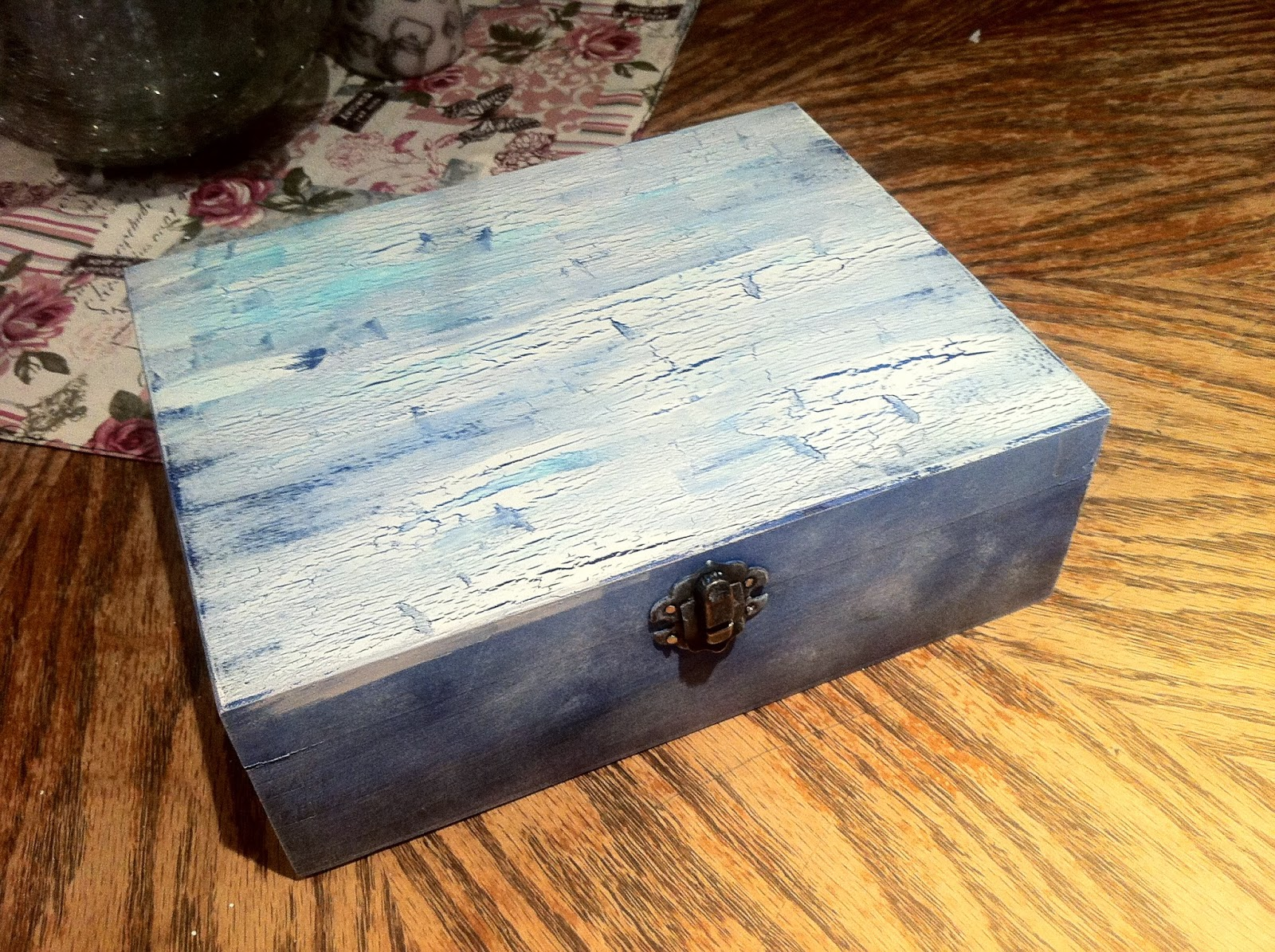 wooden box, gift, decoupage