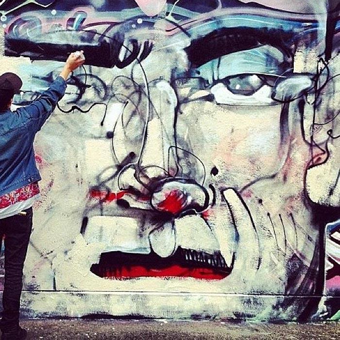 Anthony Lister x Phibs New Mural In Sydney, Australia