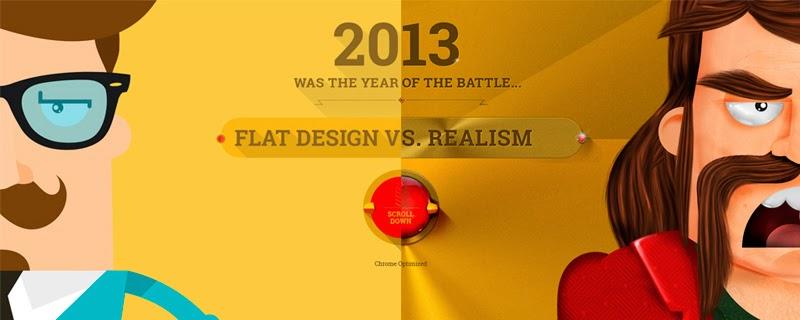 La gran batalla Diseño realista vs. Diseño plano