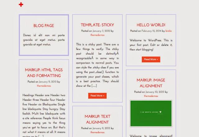 Grid style free wordpress theme