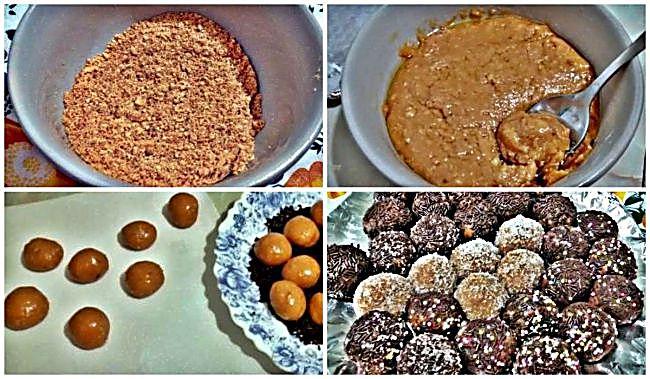 Preparación de las trufas de toffe y miel