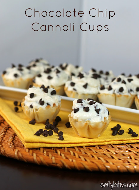 Chocolate Chip Cannoli Cups - Emily Bites