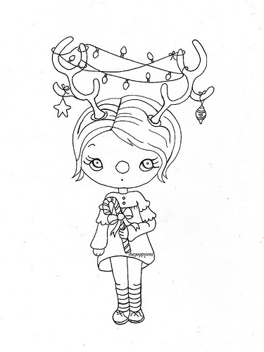 blackline christmas coloring pages - photo#14
