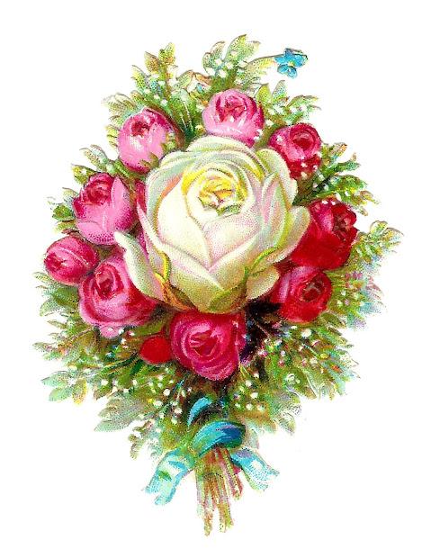 antique vintage flower