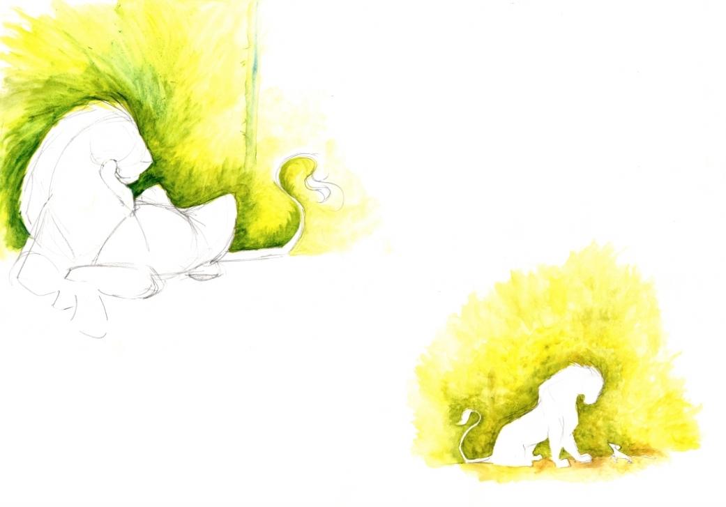 manu lafay recherches graphiques le lion et la souris