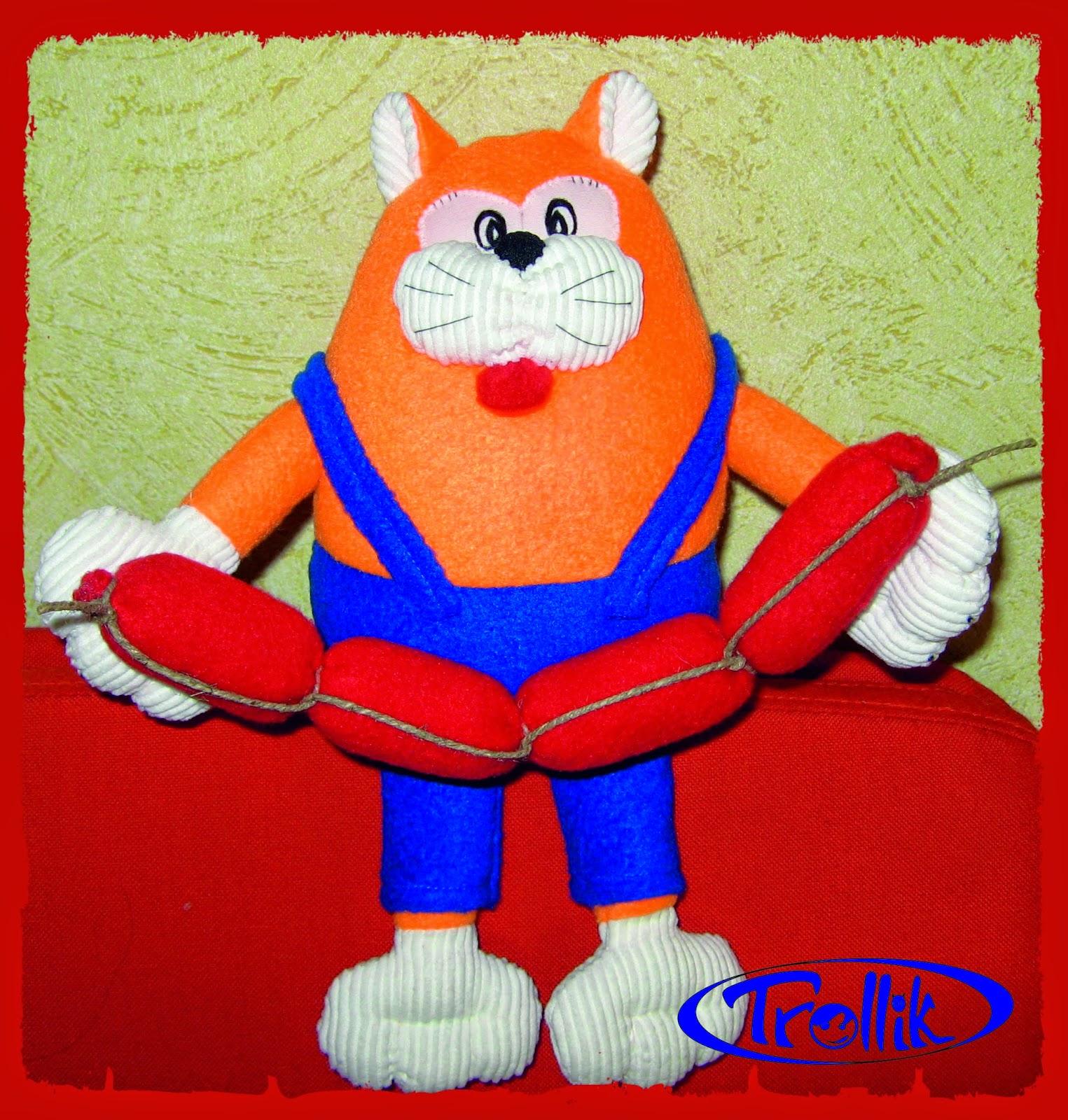 кот мягкая игрушка из флиса своими руками