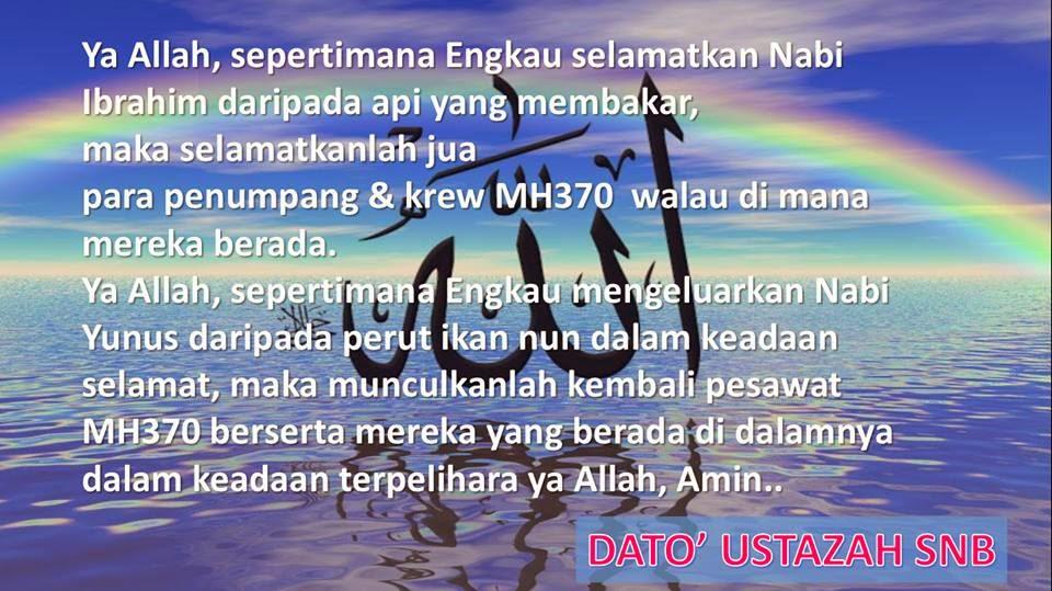 Doa untuk MH370 # Hari -7