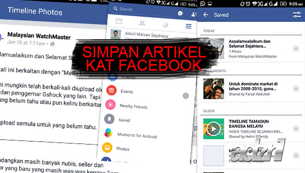 dalam facebook bookmark