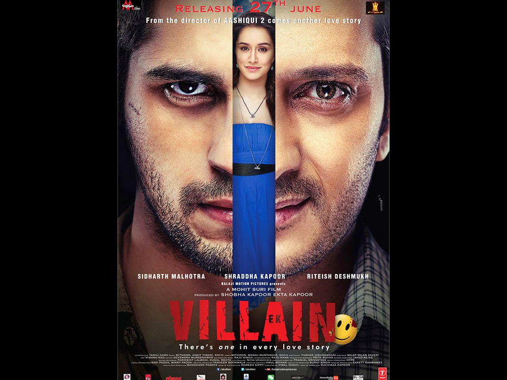Ek Villain poster watch online full movie free download 2014.