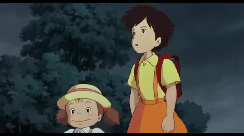 Mei and  My Neighbor Totoro 1988 animatedfilmreviews.blogspot.com