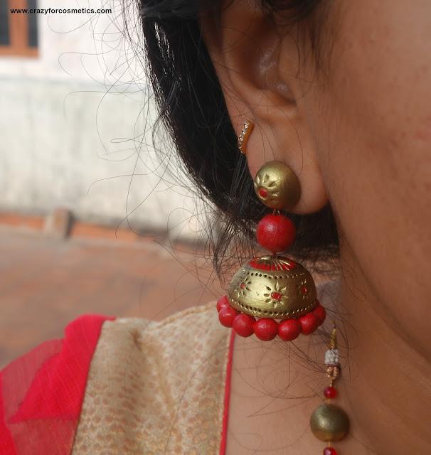 how to wear terracotta earrings