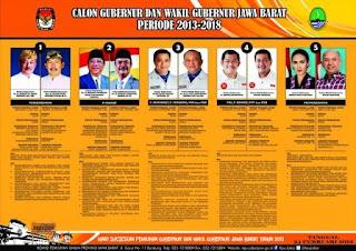 poster biodata, visi dan misi calon Gubernur dan Wakil Gubernur Jawa Barat tahun 2013 (PILGUB JABAR 2013)