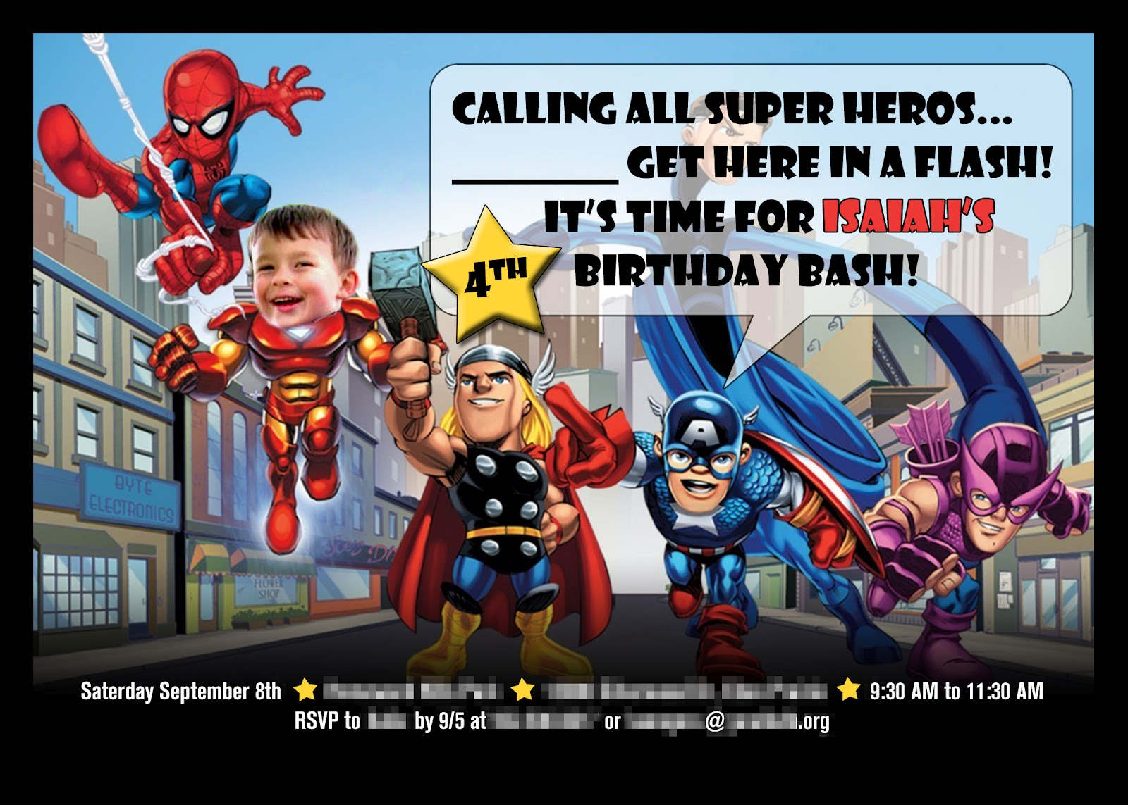 Superhero Birthday Party Ideas, Superhero Birthday Party Invitations