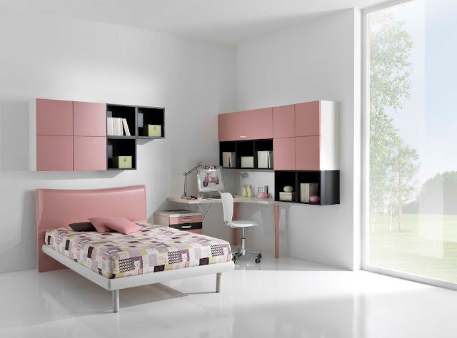 id e d co chambre ado fille moderne. Black Bedroom Furniture Sets. Home Design Ideas