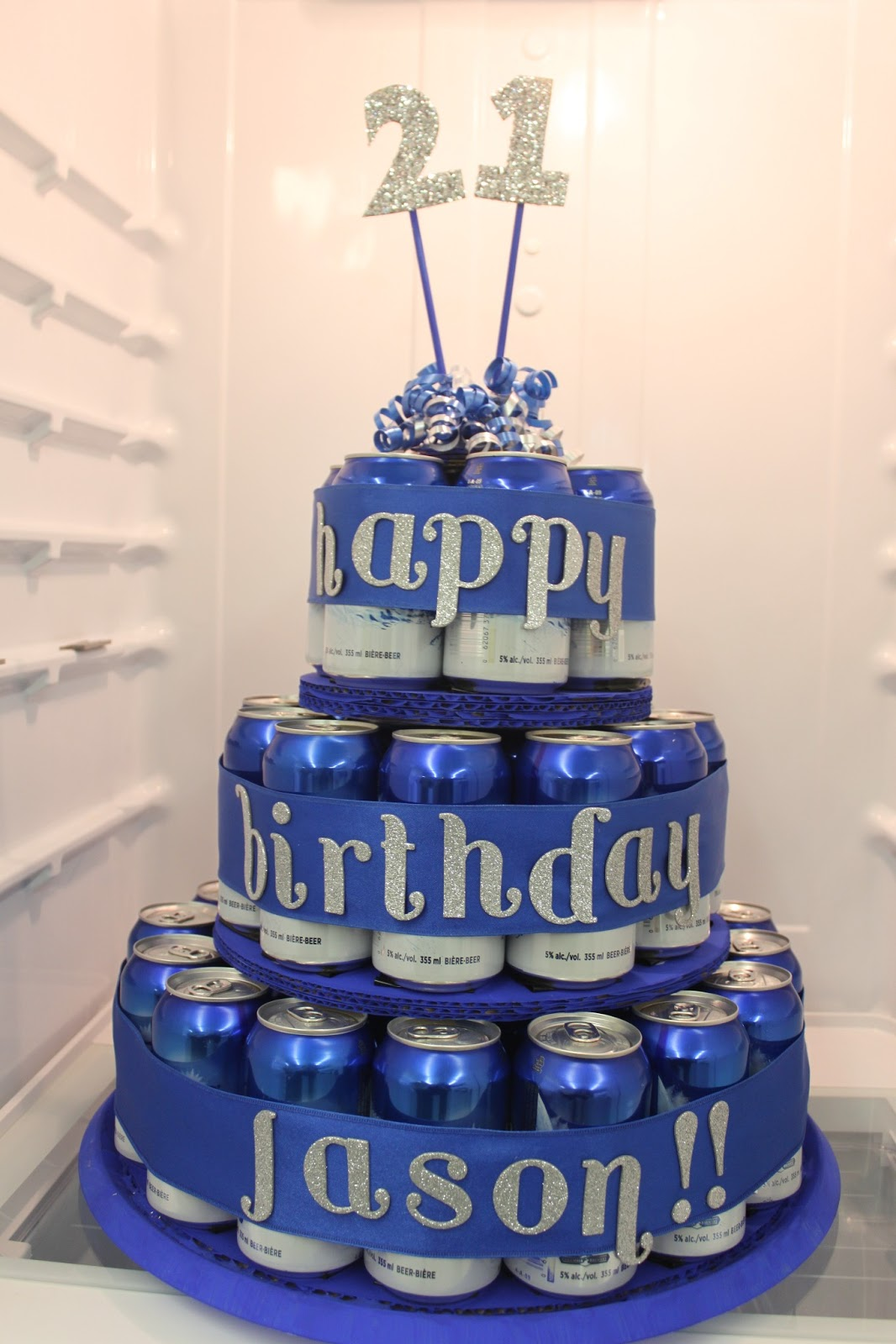 Made By Samantha Beer Can Birthday Cake