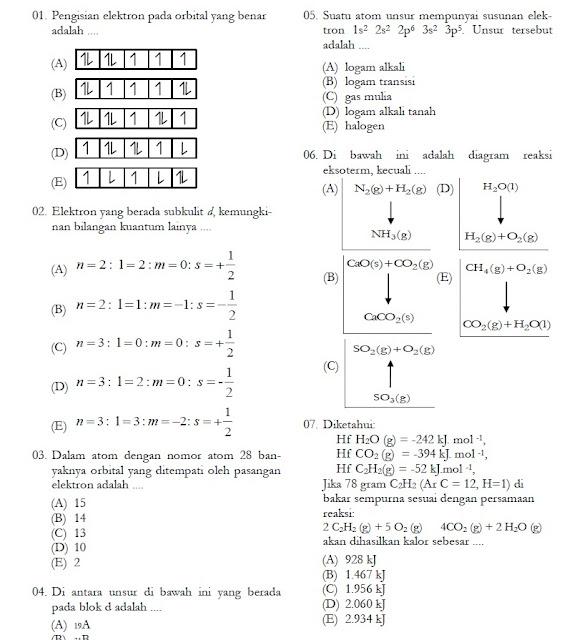 Soal UTS Kimia Kelas X XI Semester 2 (Genap)
