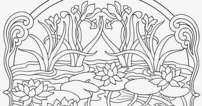 Adult Nature Coloring Pages Printable