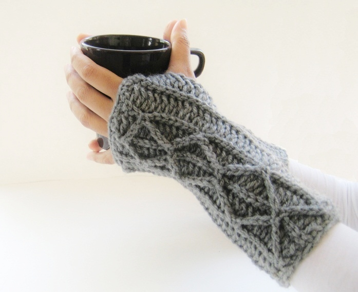 Crochet Fingerless Gloves : Crochet Dreamz: Adeline Fingerless Mitts or Arm Warmers, Easy Crochet ...