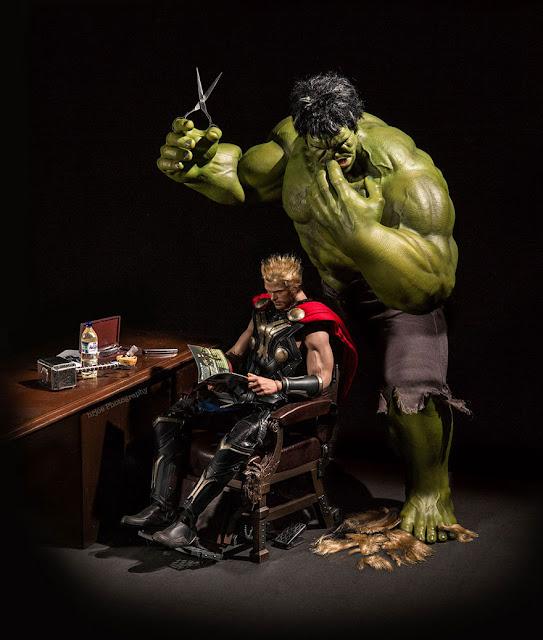 Green Pear Diaries, fotografía, humor, HRJOE, Toys Photography, superheroes