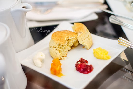 Vanilla Scone with assorted spread and jam at Keraton Lounge