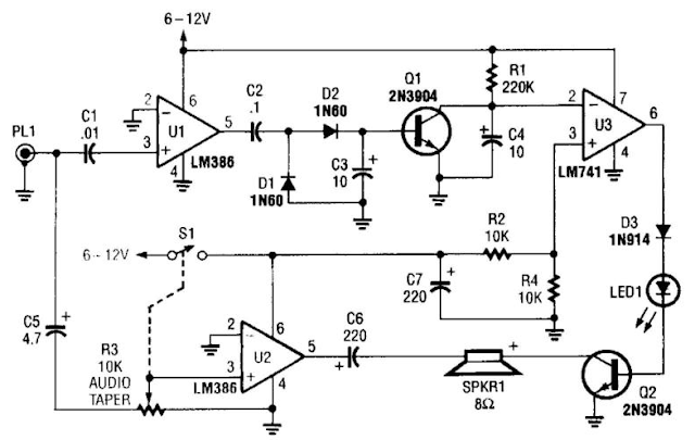 Build a Scanner Voice Squelch Circuit Diagram