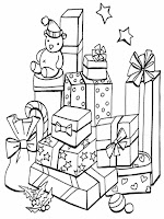gambar mewarnai hadiah natal
