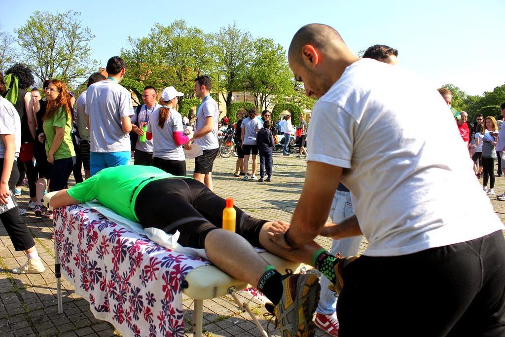 Timişoara se mişcă la Timotion şi face masaj la Florin Chindea. Masaj de relaxare după alergare