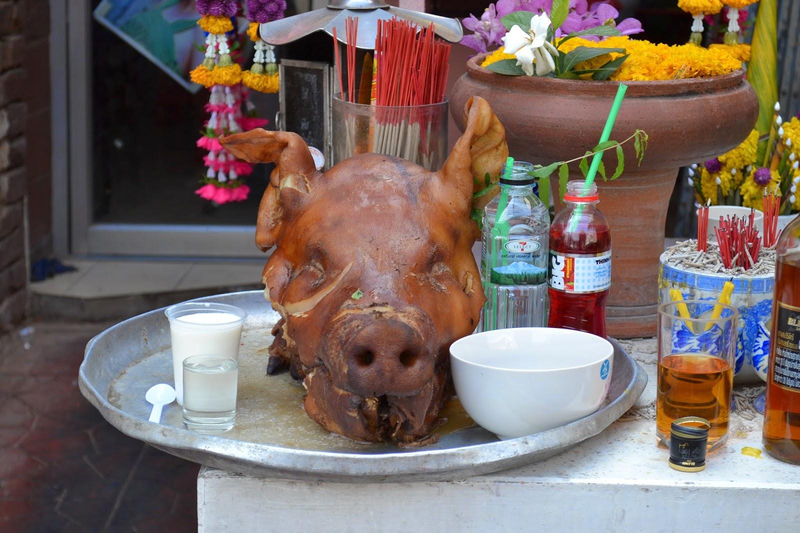Thaïlande, Bangkok, voyage, cochon