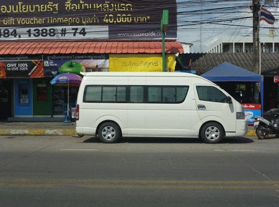 Van waiting for passengers from Koh Samet Island