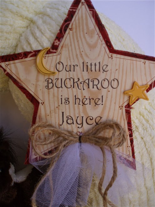 22. Custom Our little buckaroo wreath