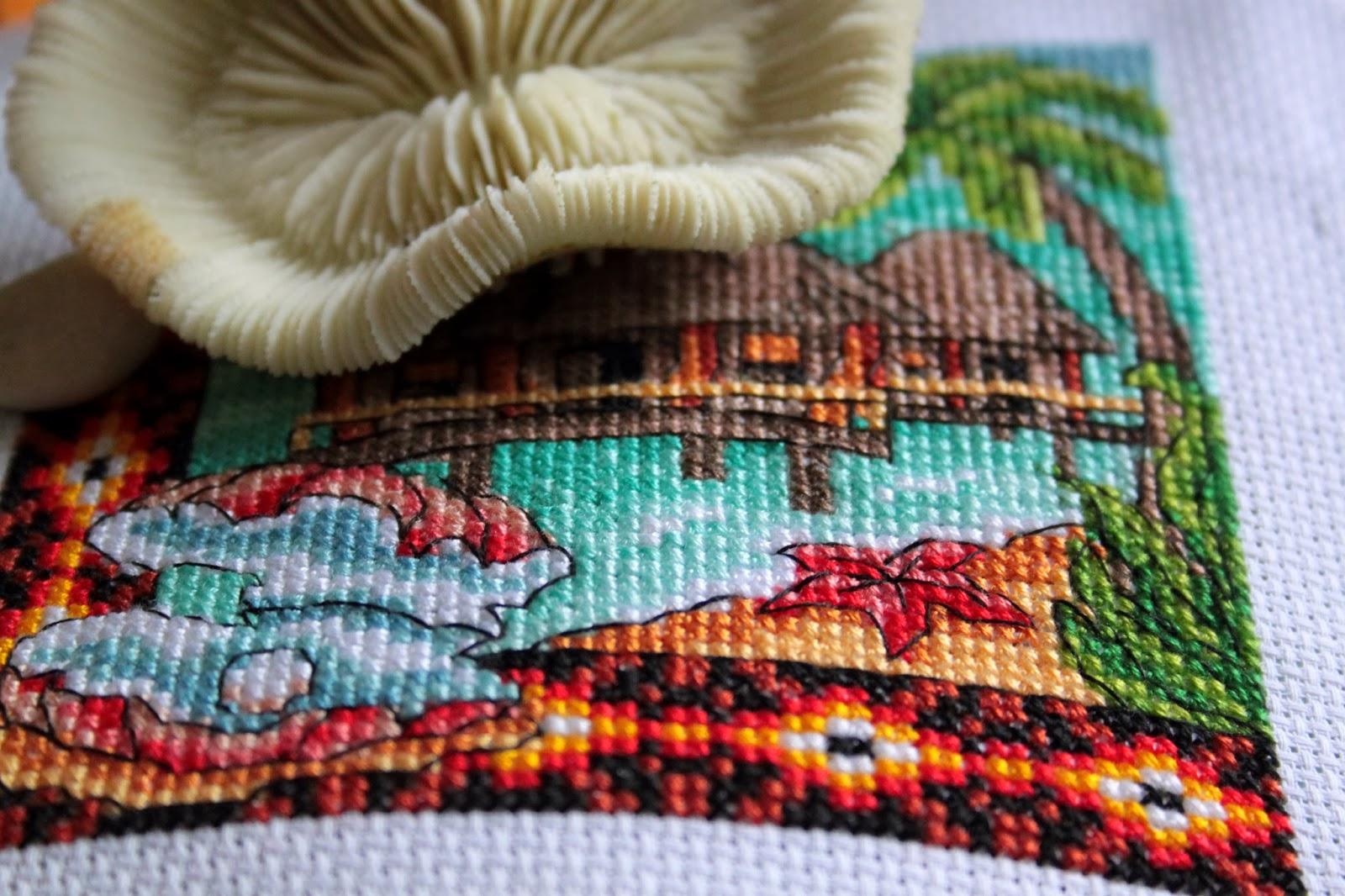 схема вышивки крестом кривые домики пауэля