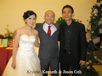 Wedding couple with band manager Jason Geh