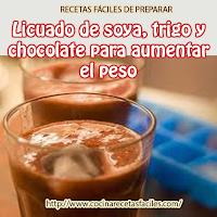 leche soya,germen trigo,chocolate en polvo, banana,crema cacahuate