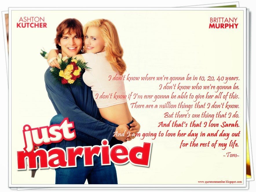 quote to remember just married 2003