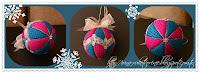новогодние шары, пэчворк без иглы, елочные игрушки