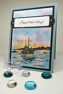 ODBD stamps, The Waves on the Sea, designed by Grace Nywening